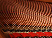 Closeup of a piano inside — Stock Photo
