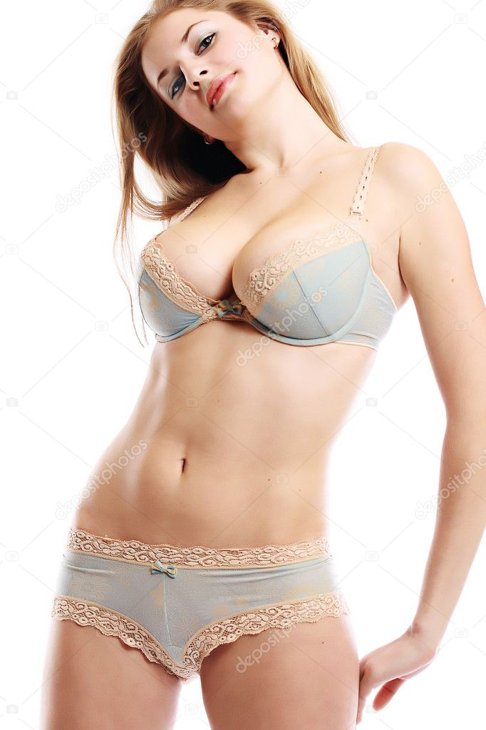 Sexy Women In Blue Lingerie 11