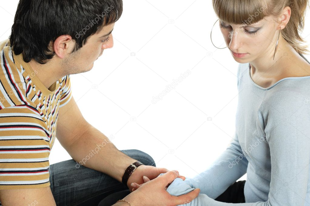 Relationship difficulties: young couple having a problems  Stock Photo #1279055