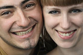 Young couple feeling happy — Stock Photo