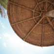 Beach Umbrella, Palm and Sky — Stock Photo #1305809