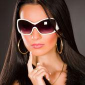 Girl with stylish glasses — Stock Photo