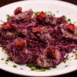 Stock Photo: Meat with red cabbage and crandberry