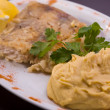Stock Photo: Bavarigrilled fish with puree