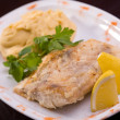 Bavarian grilled fish — Stock Photo