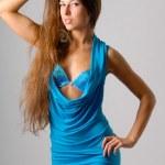 Blue dress — Stock Photo #1117499