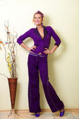 Violet suit — Stock Photo