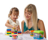 Mother and daughter play — Stock Photo