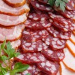 Royalty-Free Stock Photo: Sausage, meat, verdure
