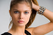 Attractive young girl — Stock Photo
