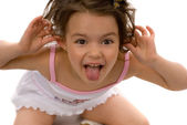Ape little girl — Stock Photo