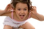 Ape little girl — Stock Photo