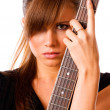 Royalty-Free Stock Photo: Girl with guitar, portrait