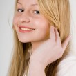 Young pretty blond girl — Stock Photo