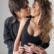 Young passionate hugging couple — Stock Photo #1163932