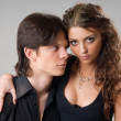 Stockfoto: Portrait of sweet couple in love