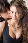 Close-up of amorous young couple — Stock Photo