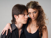Portrét sladké pár v lásce — Stock fotografie