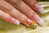 French manicure — Stockfoto