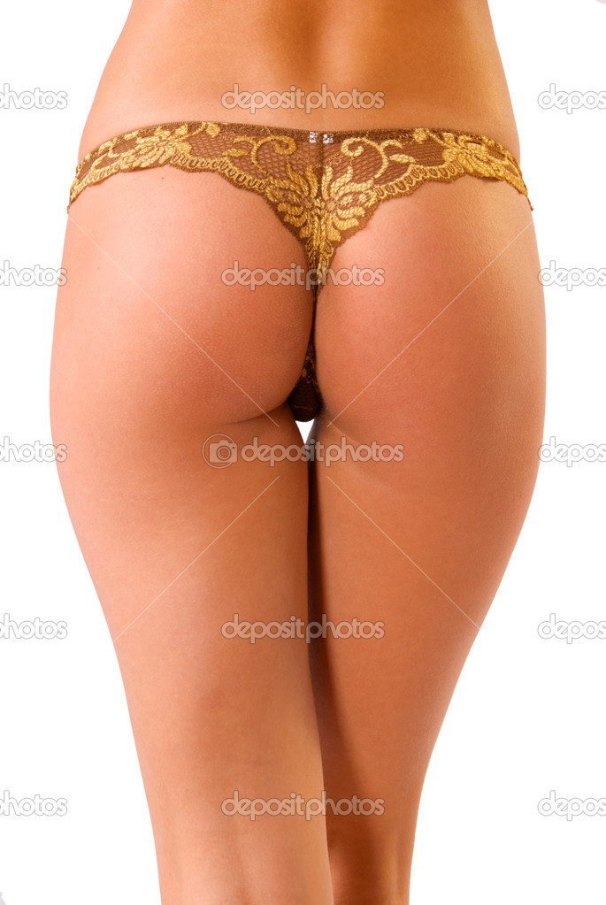 Back and ass of beautiful woman isolated on white — Stock Photo #1163666