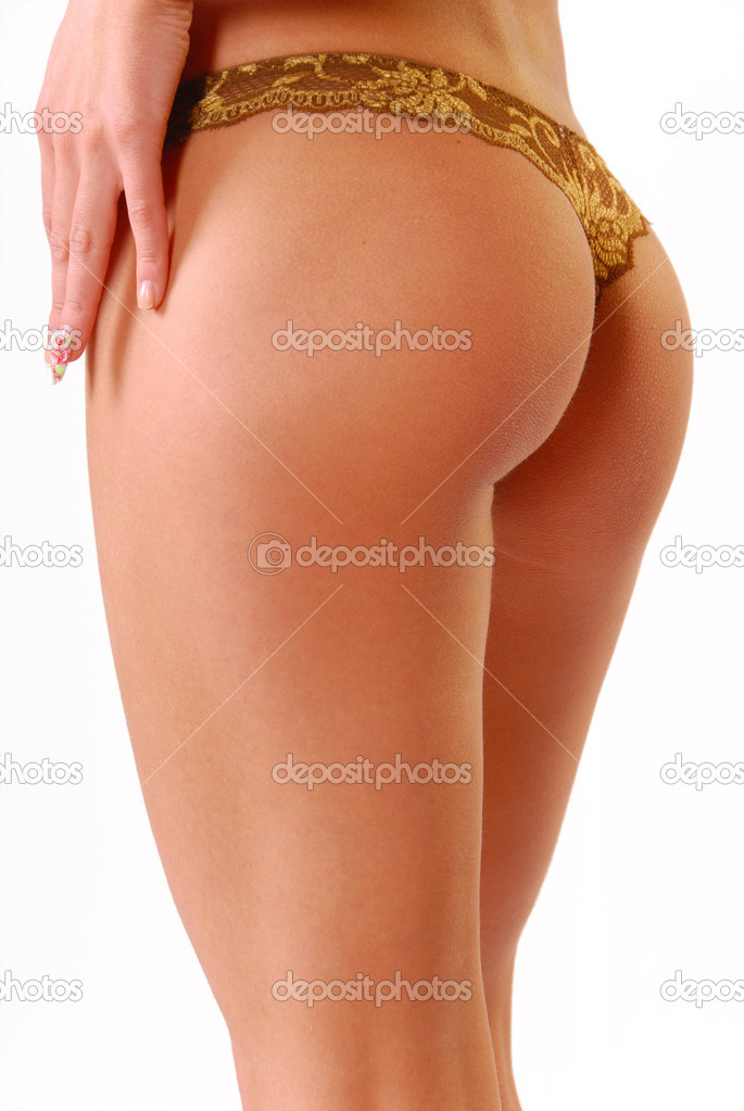 Back and ass of beautiful woman isolated on white — Stock Photo #1163668