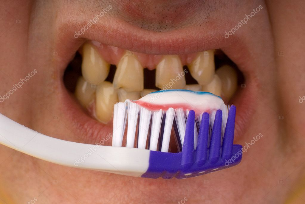 Dental care concept: brush your teeth — Stock Photo #1164012