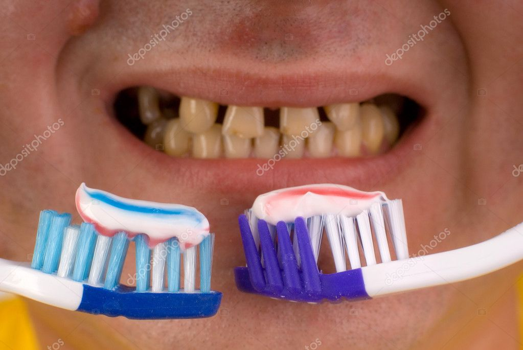 Dental care concept: brush your teeth  Stock Photo #1164049