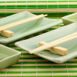 Utensils for a sushi, the Japanese meal — Stock Photo