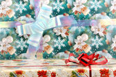 Gift box background for greetings cards — Stock Photo