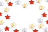 Color stars on white background — Stock Photo