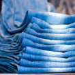 Royalty-Free Stock Photo: Stack of jeans