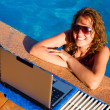 Working out of a pool — Stock Photo #1124590
