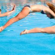 Jump to a pool — Stock Photo #1124642