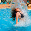 Stockfoto: Woman in a pool