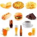 conjunto de fast-food — Foto Stock