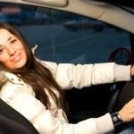 Beautiful woman in a car — Stock Photo