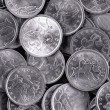 Stock Photo: Silver coins