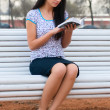 Reading young woman — Stock Photo