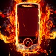 Royalty-Free Stock Photo: Burning phone