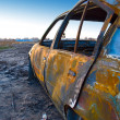 Royalty-Free Stock Photo: Burnt car