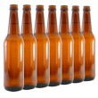 Set of bottles of beer - Stock Photo