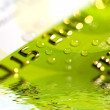 Royalty-Free Stock Photo: Water drops on a credit card