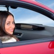 Woman in a car — Stock Photo #1125279