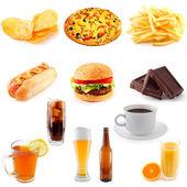 Set van fast food — Stockfoto