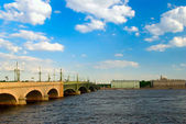 Troitsky bridge, Saint-Petersburg, Russi — Stock Photo