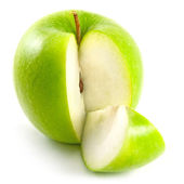 Apple and its quarter slice — Stock Photo