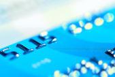 Blue credit card — Stock Photo
