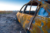 Burnt car — Stock Photo