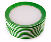Stack of plates — Fotografia Stock