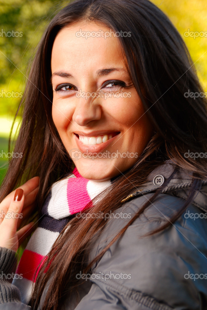Laughing beautiful woman — Stock Photo #1124396